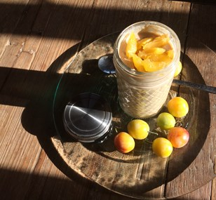 Porridge aux flocons d'avoine et fruits